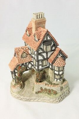 David Winter'Squires Hall' 1985 Handmade Cottage Figurine COA+Bx Britain Nice!