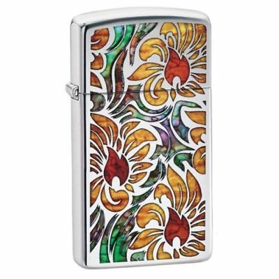 BRIQUET ZIPPO ESSENCE NEUF - FLEURS SLIM ( Original , Tempete , Collection )