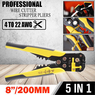 5In1 Automatic Wire Stripper Hand Crimper Pliers Tools Cable Cutter Repair Tool