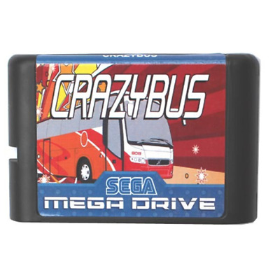Crazy Bus 16 bit MD Game Card For Sega Mega Drive For Genesis