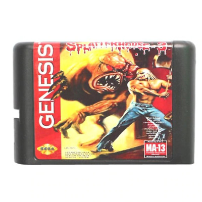 SplatterHouse Part 3 16 bit MD Game Card For Sega Mega Drive For Genesis