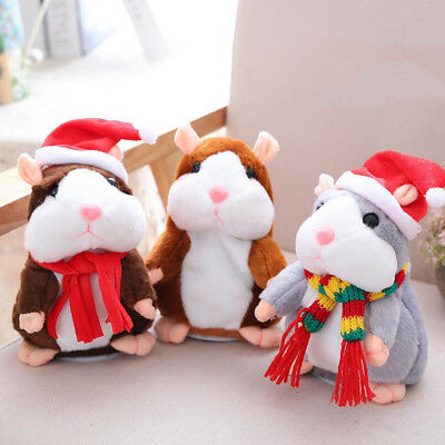 Cheeky Hamster Talking Mouse Pet Christmas Toy Speak Sound Record Hamster Gift D