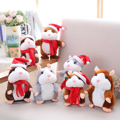 Cheeky Hamster Talking Mouse Pet Christmas Toy Speak Sound Record Hamster Gift C