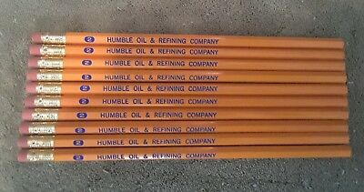 HUMBLE OIL & REFINING COMPANY wooden pencils (10)