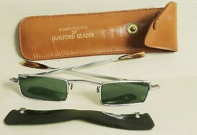 fc6ad5fb1e Rare Vintage 1960s Flip Up Green Sunglasses - Like John Lennon (Penny Lane)