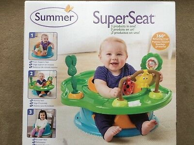 Summer Infant 3 Stage Super Seat Forest Friends - NEW