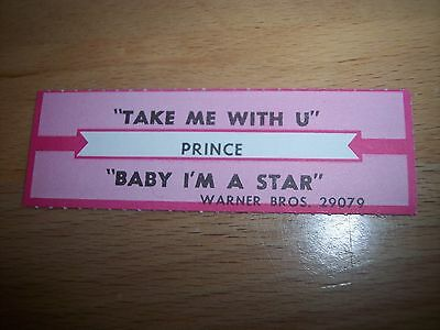 "1 Prince Take Me With U/Baby I'm A Star Jukebox Title Strips CD 7"" 45RPM Records"