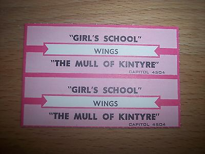 "2 Wings Girl's School Jukebox Title Strips CD 7"" 45RPM Records"