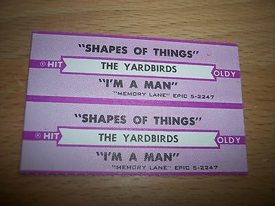 "2 Yardbirds Shapes Of Things/I'm A Man Jukebox Title Strip CD 7"" 45RPM Records"