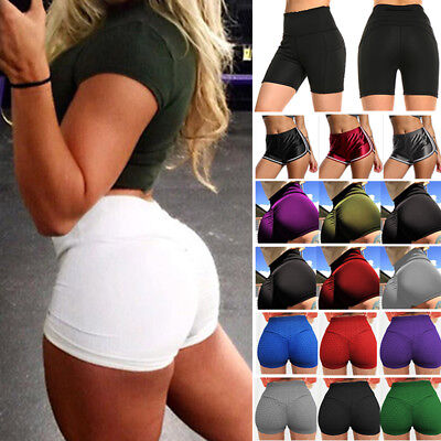 Ladies UV Neon Lycra Shorts Hot Pants Dance Party Casual Club Gym Yoga Gym K308