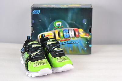 Youth Boy's Skechers S Lights- Hypno Flash Sneakers Lime/Black