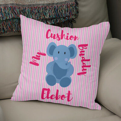 Elebot Cushion Buddy - High Quality Faux Suede Or Poly Satin Cushion
