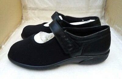 Ladies DB Easy B Leather Shoes - Black - UK 7 Extremely Wide 6V Fit
