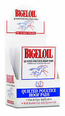 Bigeloil Quilted Poultice Hoof Pad 4 Pack