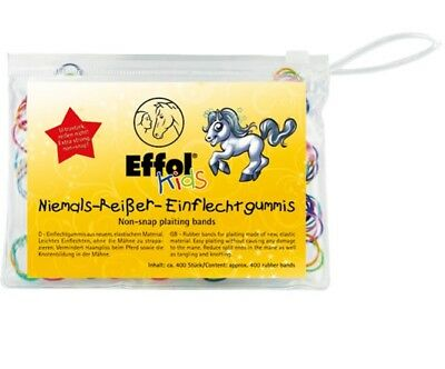Effol Kids Non-Snap Plaiting Bands 400 Pack