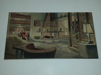 Original Vintage Ed Kiechle Watercolor Painting Circa 1940's? Signed
