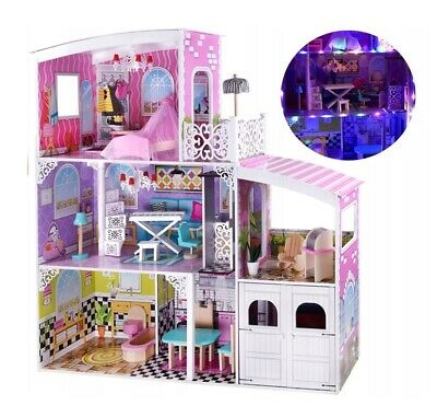 XXL WOODEN DOLL HOUSE WITH FURNITURE 112cm dollhouse DOLLS HOUSE barbie NEW