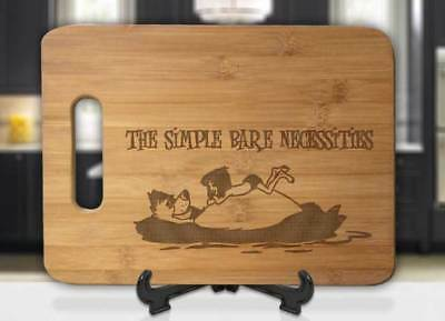 The Simple Bare Necessities Jungle Book Engraved Cutting Board