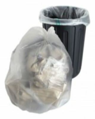 "20 Clear Refuse Sacks Bags Size 18x29x39"" 140gauge Bin Liners FREE P+P"