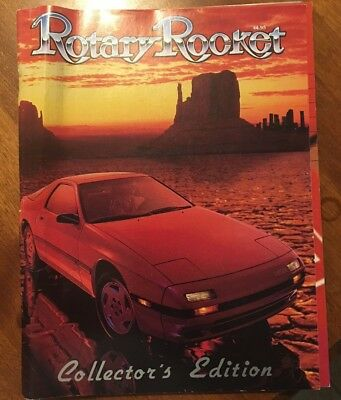 Rotary Rocket Collector's Edition Book Introduced Mazda RX-7 1986 December 1985