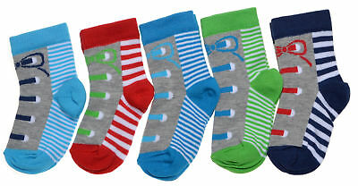 5 pairs of Baby Boys Design socks - Variety of Sizes