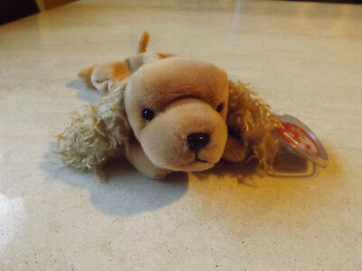 acc6f8254da TY ORIGINAL BEANIE Baby Spunky the Cocker Spaniel ERRORS -  199.00 ...