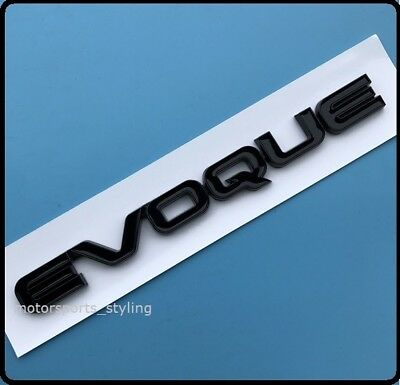 Range Rover Evoque 3D Gloss Black Back Rear Boot Letters Badge Emblem New 5