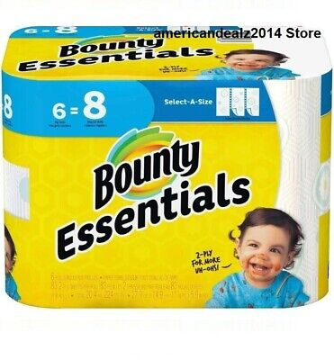 Bounty Essentials Paper Towels, Select-A-Size, 8, 12, 24 OR 48 Rolls, NEW