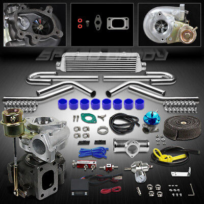 T25/t28 9P Universal Turbo Kit V-Band Turbocharger W/wastegate+Intercooler+Timer