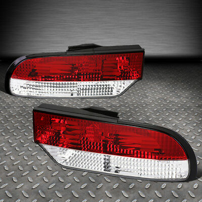 For 89-93 Nissan 240Sx Fastback Red/clear Lens Tail Light Brake/reverse Lamps