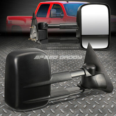 For 97-04 F150/-99 F250 Light-Duty Dual Arm Power Rear View Towing Mirror Pair
