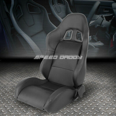 Pvc Leather Black Universal Full Reclinable Xl-06 Sports Style Racing Seat