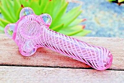 "4.5"" Pink Collectible Colorful Glass Hand Pipe Tobacco Smoking Herb Bowl Pipes"