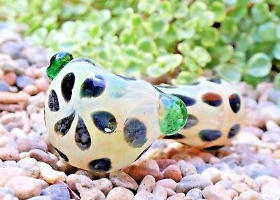 "4.5"" Green Dalmatian Collectible Tobacco Glass Pipe Smoking Herb Bowl Hand Pipes"