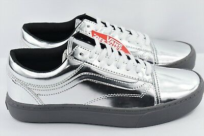 8c91bfdfcf Vans Old Skool Cup Mens Multi Size Metallic Silver Chrome Skate Shoes