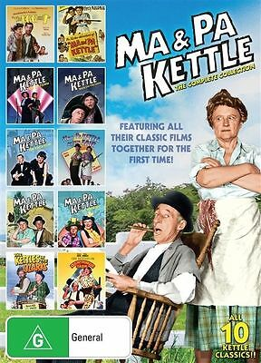 Ma and Pa Kettle Ma & Pa 10 Movies Collection DVD, 2017, 10-Disc Set R4