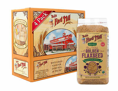 Bob's Red Mill Organic Gold Flaxseeds, 24 Ounce (Pack of 4) 07/19