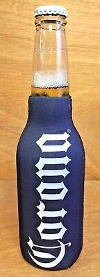 Corona Extra Beer Blue Zip Up Bottle Koozie Coozie - New & Free Ship - ONE (1)