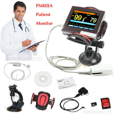 Portable LCD Touch Screen ICU CCU Vital Signs Patient Monitor ECG NIBP SPO2 PR