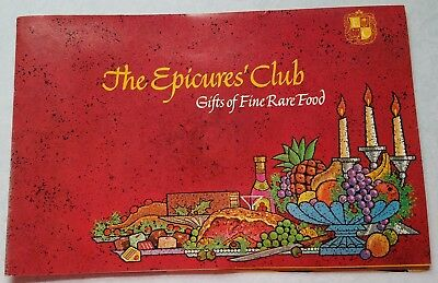 The Epicure's Club Vintage Fine Rare Food Catalog circa 1970 - Very Good