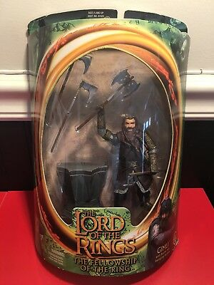 ToyBiz Lord of the Rings Gimli With Battle Axe Swinging Action Figure New in Box