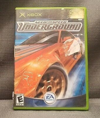 Need for Speed: Underground (Microsoft Xbox, 2003) Video Game