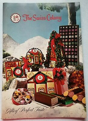 The Swiss Colony Vintage Food Catalog 1969 - Very Good