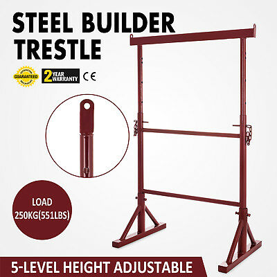 5 Level Height Adjustable Steel Builder Trestle Stability Powder-Coated Iron