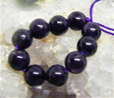 10 RARE NATURAL UNTREATED AFRICAN PURPLE SUGILITE ROUND BEADS 6mm 18.5cts AAA