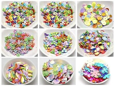 Craft DIY Loose Shimmer Sequins Paillettes Various Shape Sewing Wedding Garment