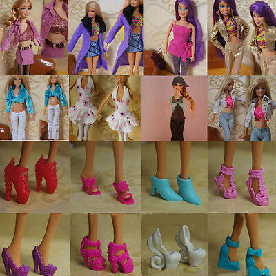 Sets Fashion Party Dailys Wear Dress Outfits Clothes Shoes For Barbie Doll Girl
