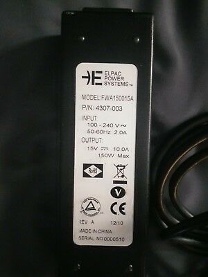 Elpac Power Systems FWA150015A AC Adapter for RED DSMC Cameras