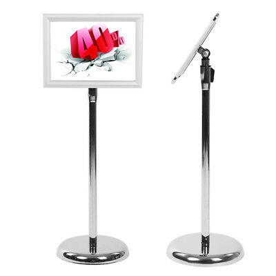 A4 Réglable en hauteur custom floor display stand signe titulaire poster frame