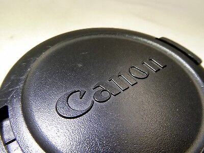 Canon Genuine snap-on 58mm Front Lens Cap - Japan E-58 All black